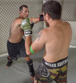 Mike and Jim sparring